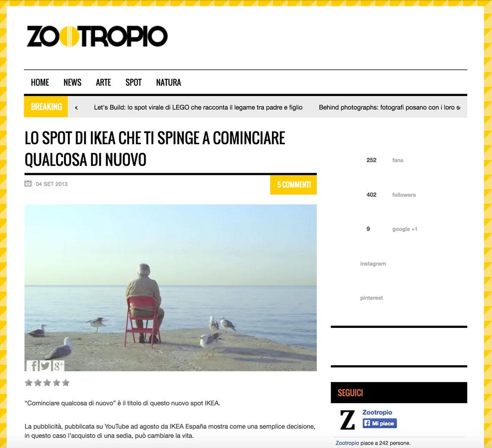 zootropio.com come appariva nel 2013