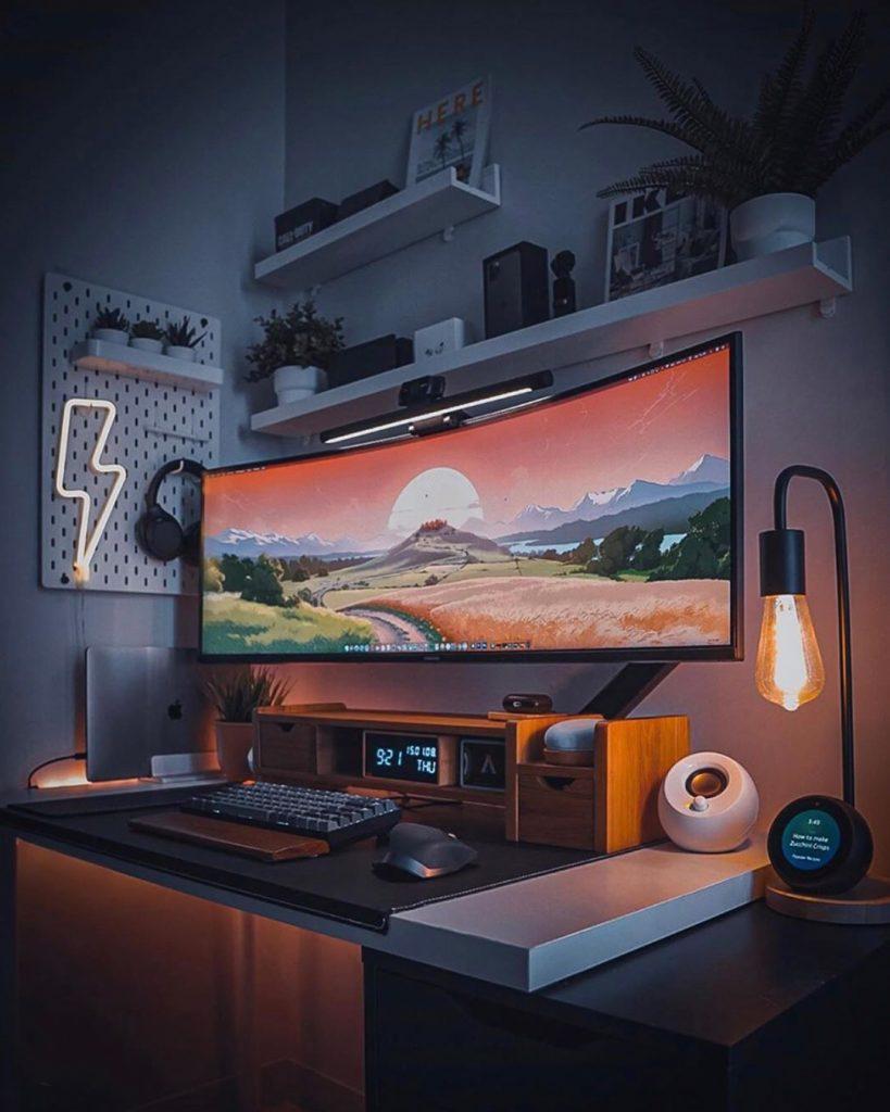 oppure sfruttare un grande monitor...