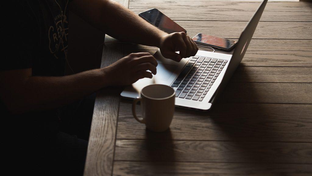 postazione di lavoro smart working
